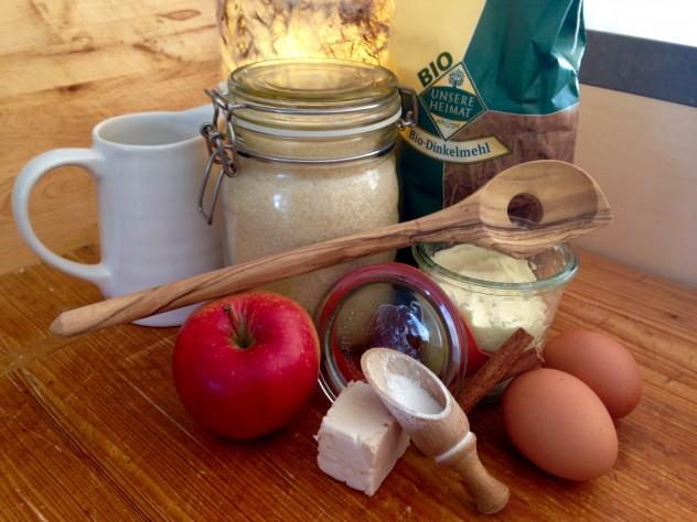 Apfel-Zimt-Kringel Zutaten