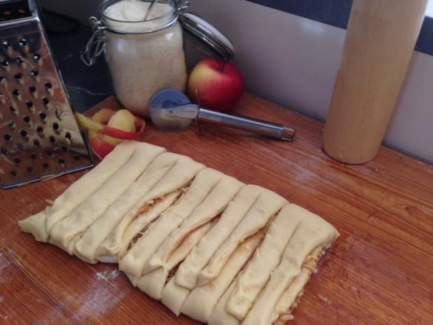 Apfel-Zimt-Kringel geschnitte